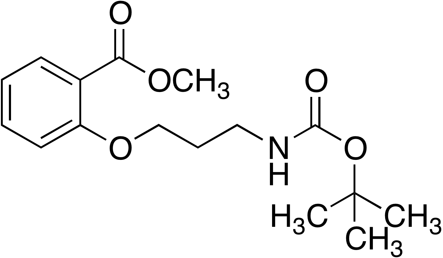2-(3-tert-Butoxycarbonylaminopropoxy)benzoic acid methyl ester