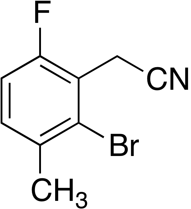 2-Bromo-6-fluoro-3-methylphenylacetonitrile