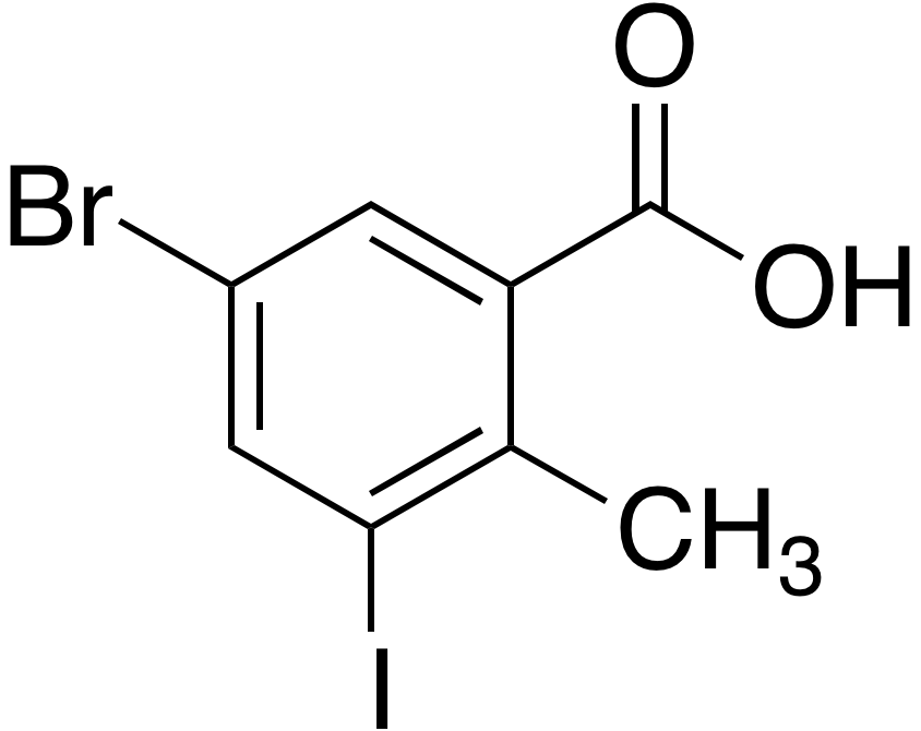 5-Bromo-3-iodo-2-methylbenzoic acid