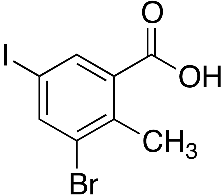 3-Bromo-5-iodo-2-methylbenzoic acid