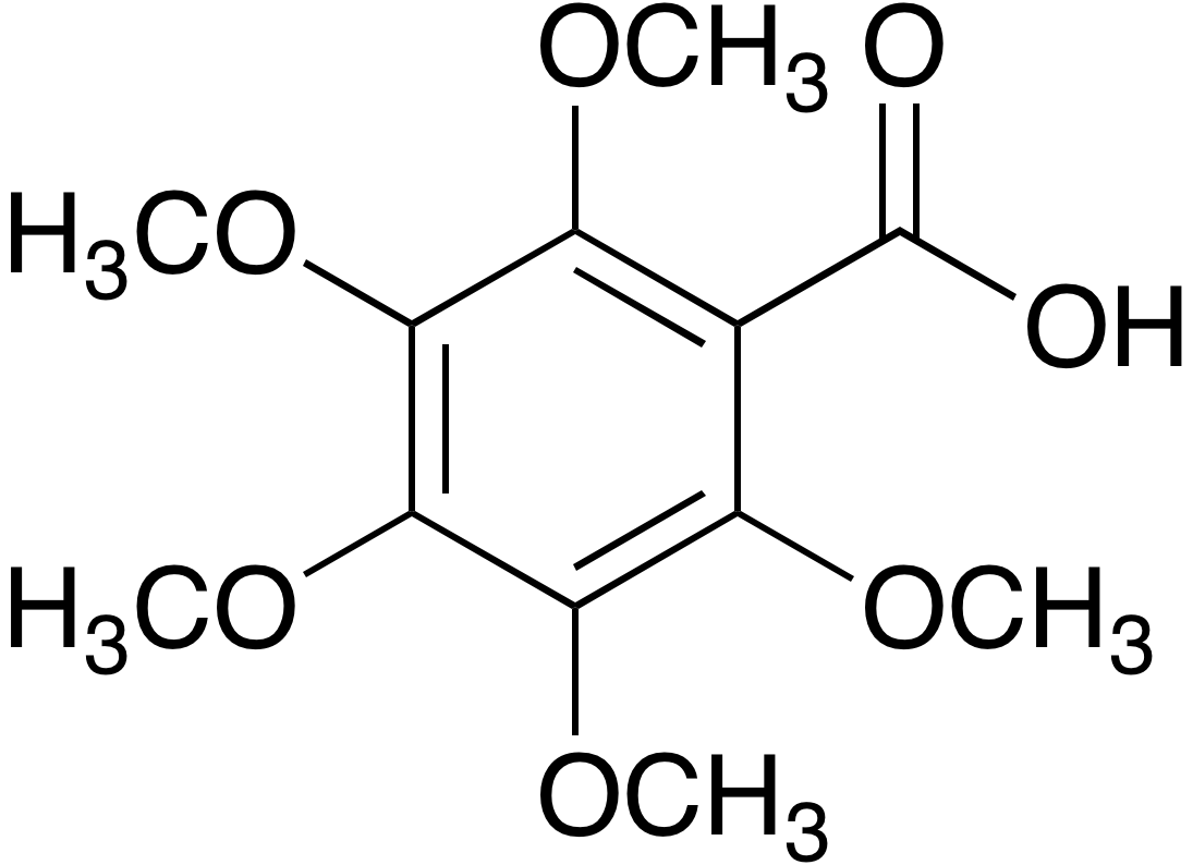 2,3,4,5,6-pentamethoxybenzoic acid