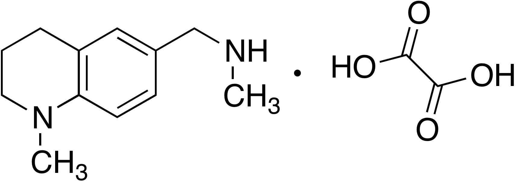 N,1-Dimethyl-1,2,3,4-tetrahydroquinoline-6-methylamine oxalate salt