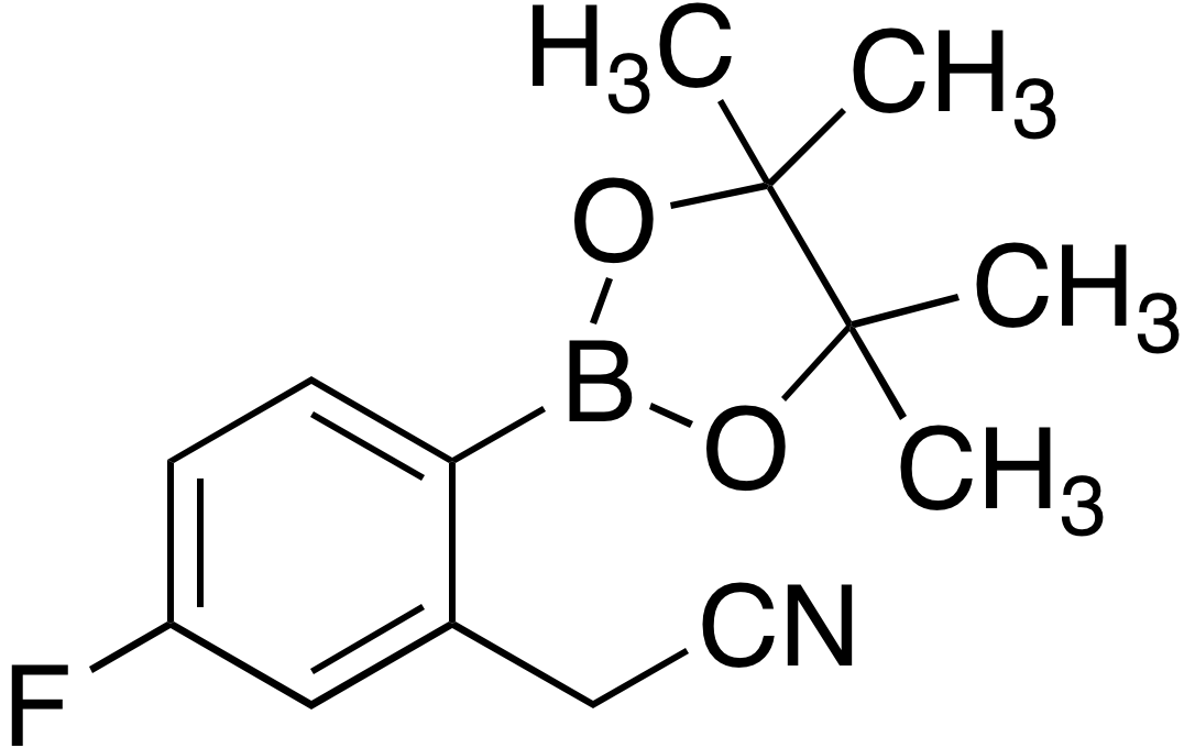 2-Cyanomethyl-4-fluorobenzeneboronic acid pinacol ester