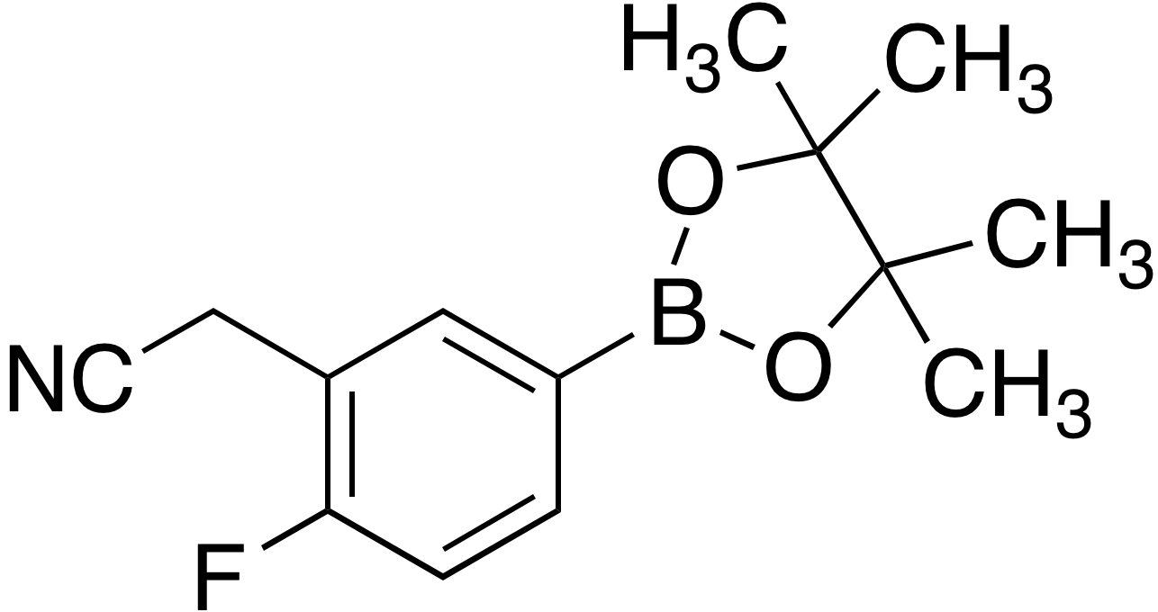 3-Cyanomethyl-4-fluorobenzeneboronic acid pinacol ester