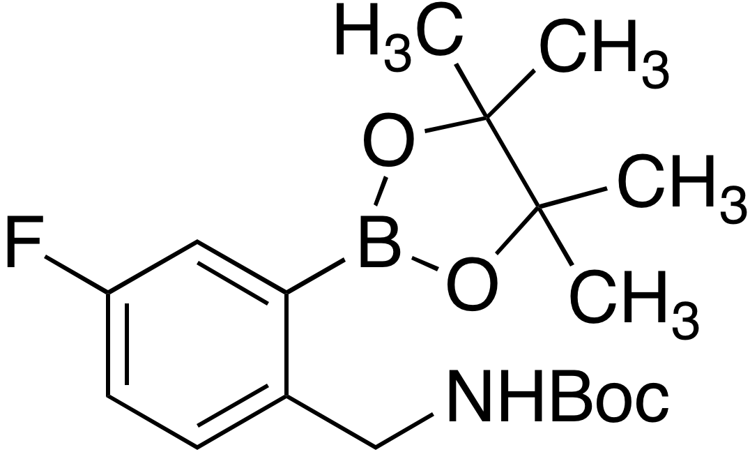 2-(Boc-aminomethyl)-5-fluorobenzeneboronic acid pinacol ester