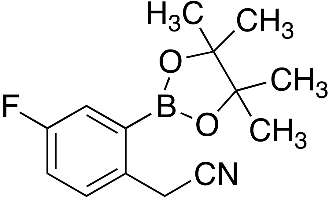 2-Cyanomethyl-5-fluorobenzeneboronic acid pinacol ester