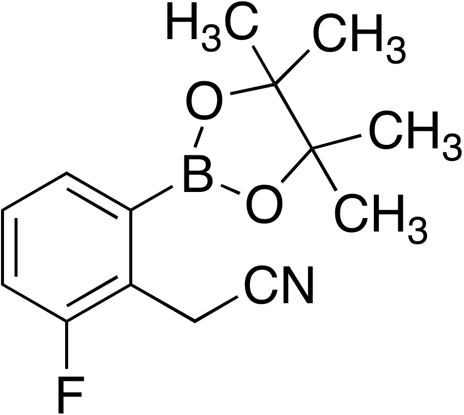 2-Cyanomethyl-3-fluorobenzeneboronic acid pinacol ester