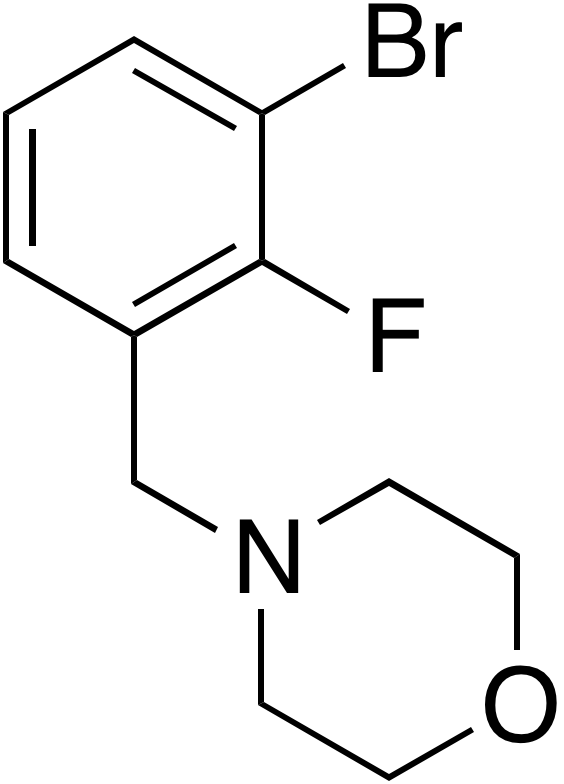 4-(3-Bromo-2-fluorobenzyl)morpholine