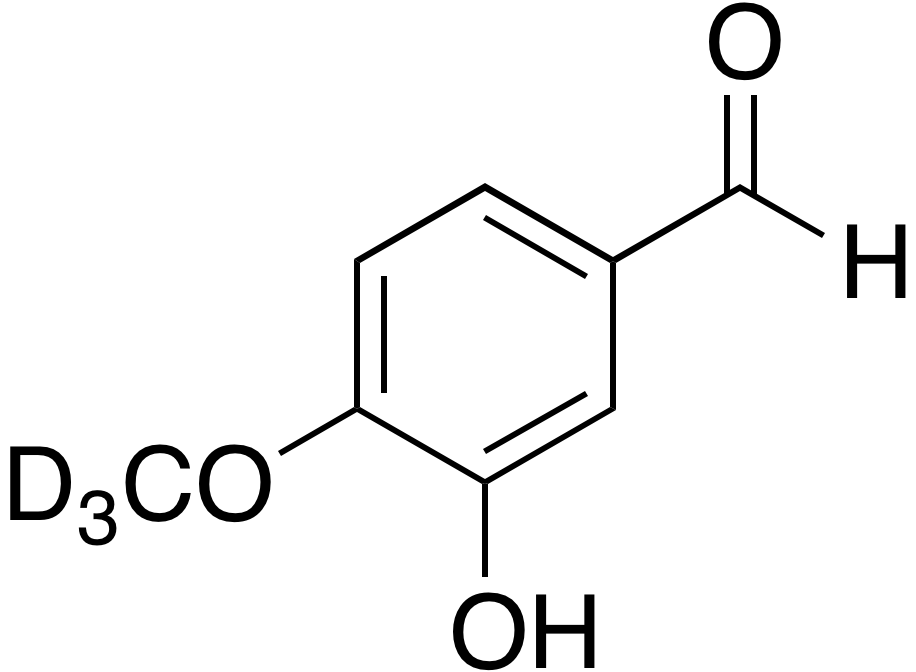 3-​Hydroxy-​4-​methoxy-​d<sub>3</sub> benzaldehyde