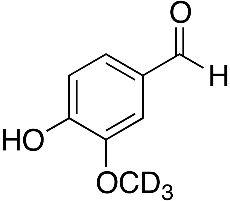4-​Hydroxy-​3-​methoxy-​d<sub>3</sub> benzaldehyde
