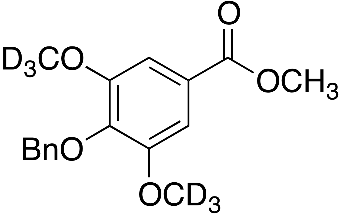 Methyl 4-(benzyloxy)-3,5-dimethoxy-d<sub>6</sub>-benzoate