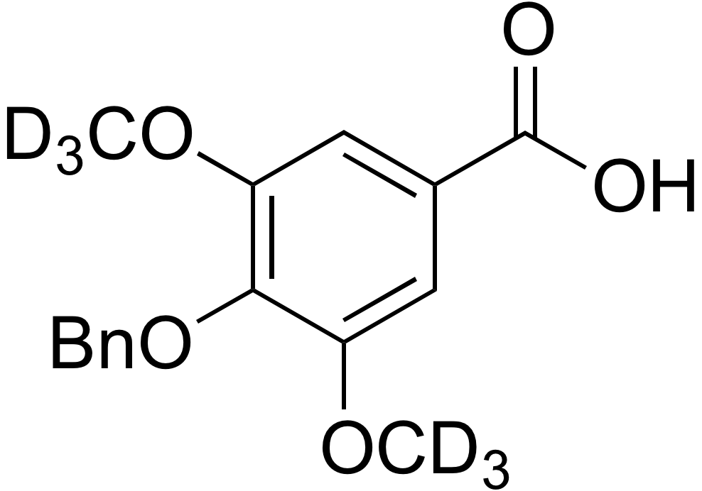 4-Benzyloxy-3,5-dimethoxy-d<sub>6</sub>-benzoic acid