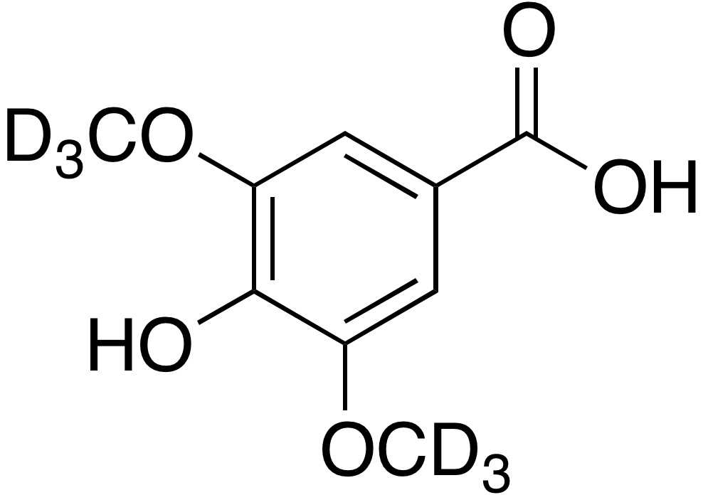 3,5-Dimethoxy-d<sub>6</sub>-4-hydroxybenzoic acid