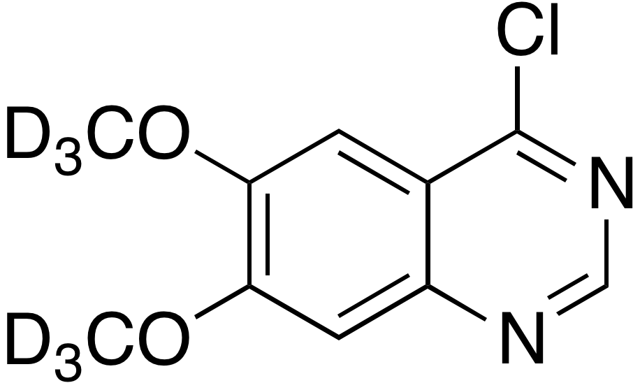 4-Chloro-6,7-dimethoxy-d<sub>6</sub>-quinazoline