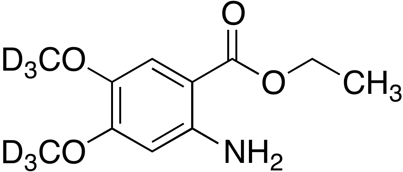 Ethyl 2-amino-4,5-dimethoxy-d<sub>6</sub>-benzoate