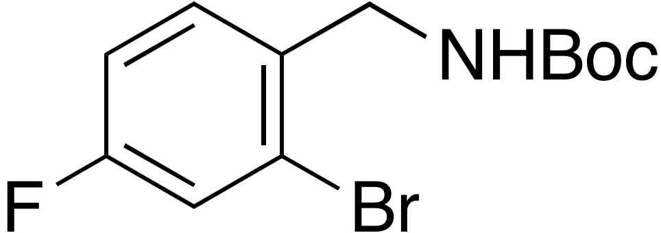 2-Bromo-4-fluoro-N-Boc-benzylamine