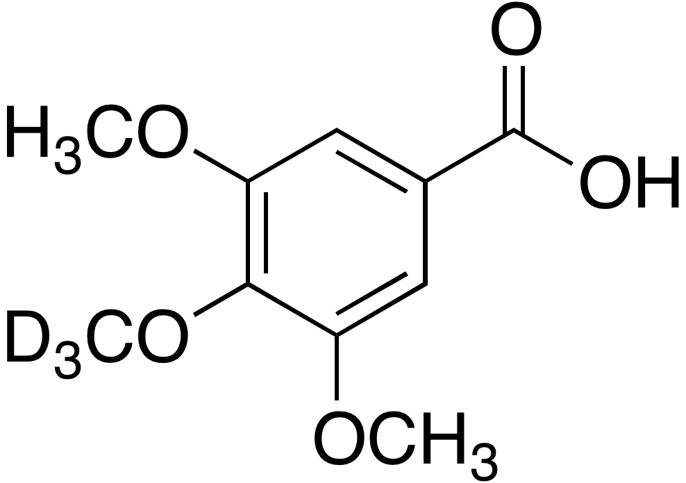 3,5-Dimethoxy-4-methoxy-d<sub>3</sub>-benzoic acid