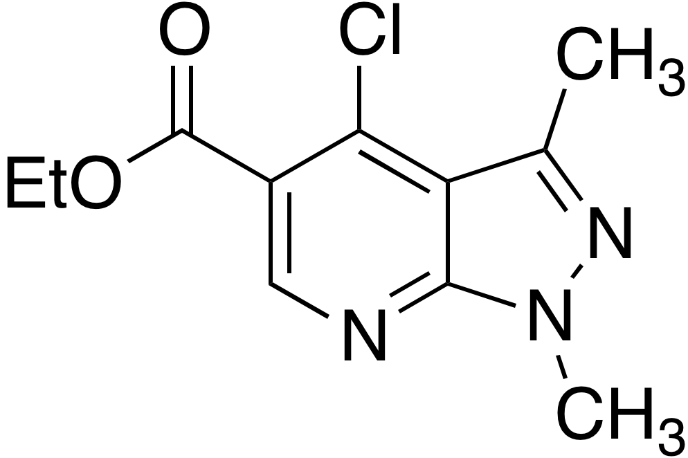 Ethyl 4-chloro-1,3-dimethyl-1H-pyrazolo[3,4-b]pyridine-5-carboxylate