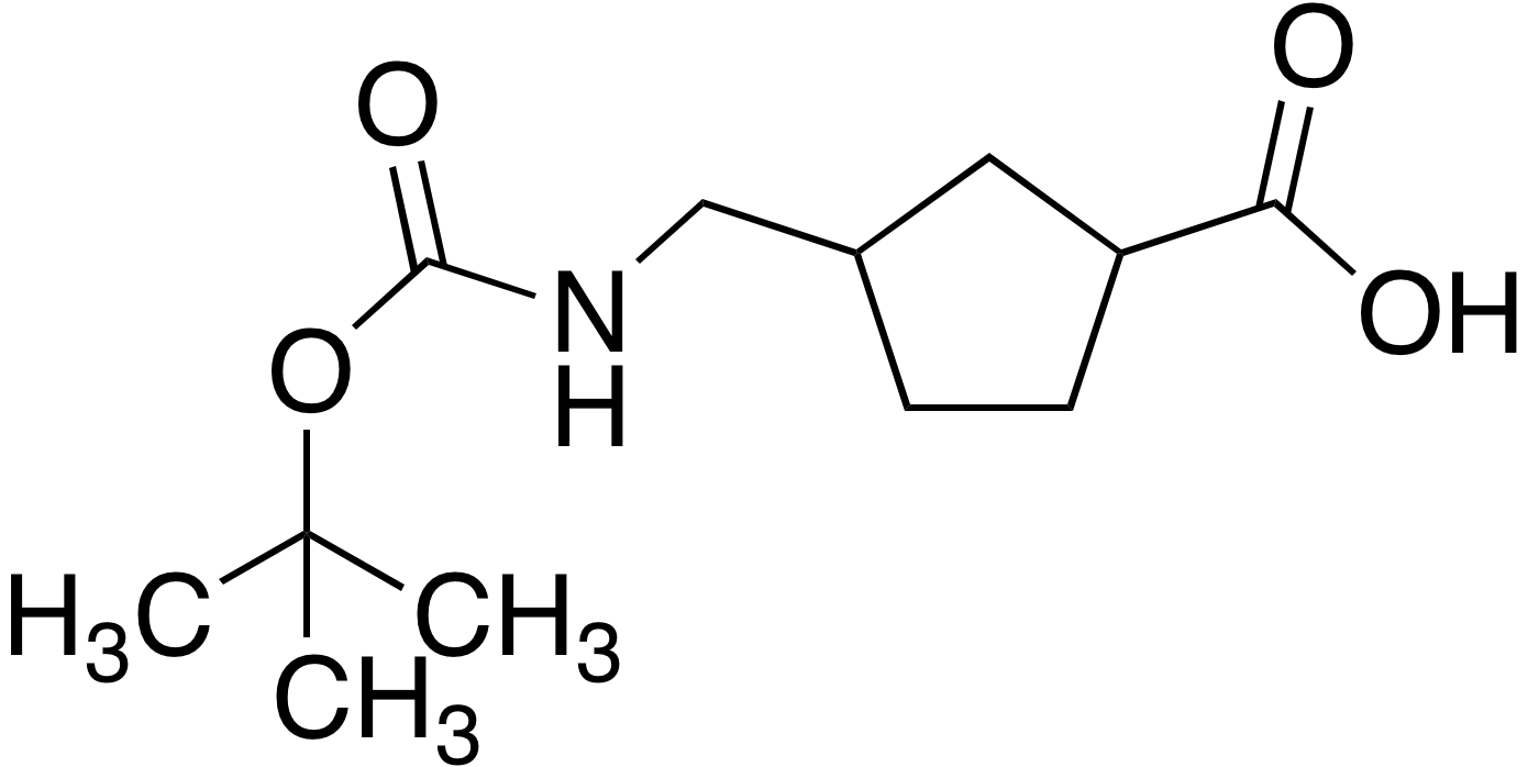 3-[N-Boc-aminomethyl]-cyclopentanecarboxylic acid