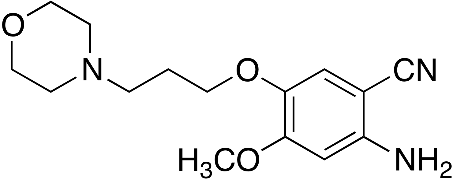 2-Amino-4-methoxy-5-(3-morpholinopropoxy)benzonitrile
