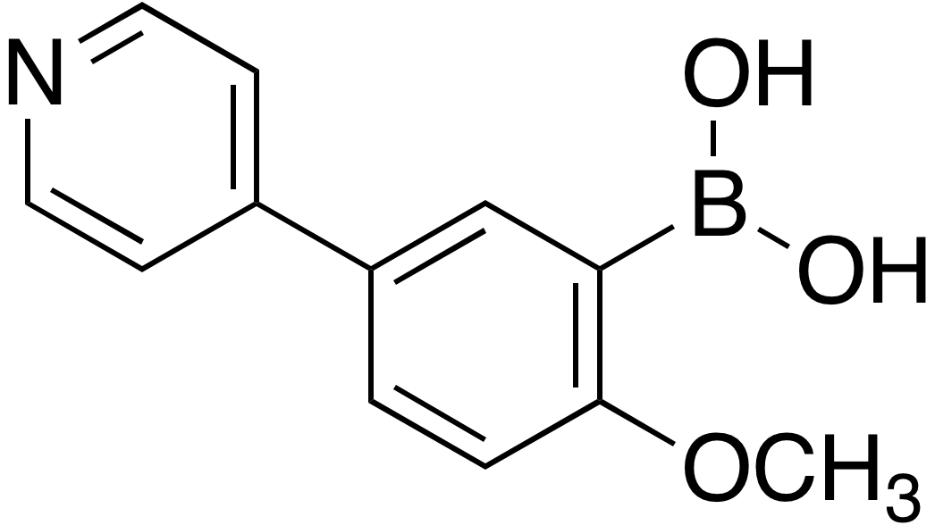 2-Methoxy-5-(4-pyridinyl)phenylboronic acid