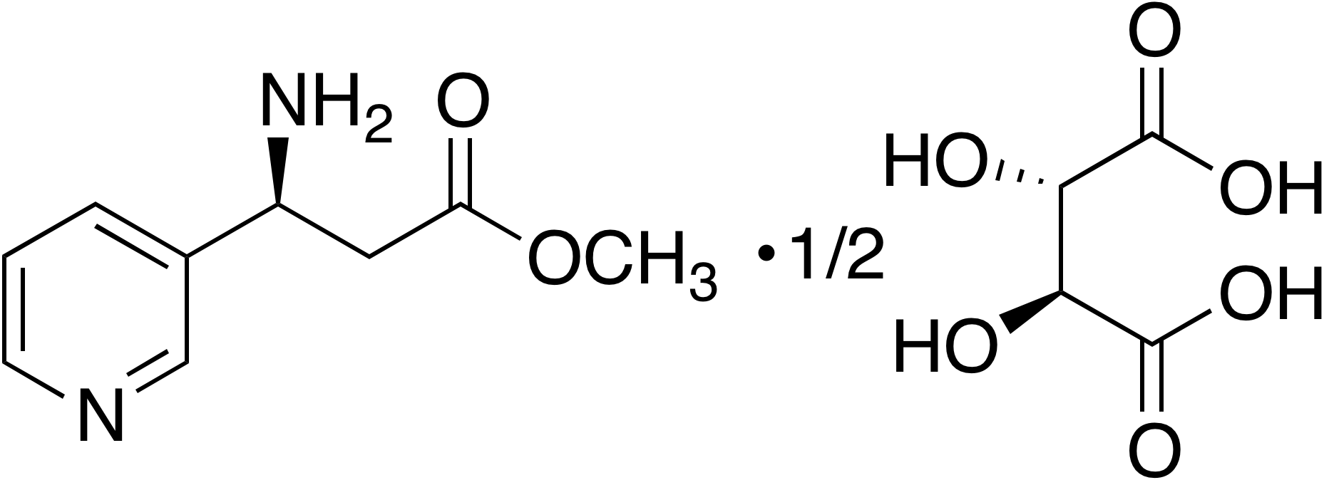 Methyl (S)-3-amino-3-(3-pyridyl)propanoate hemitartrate
