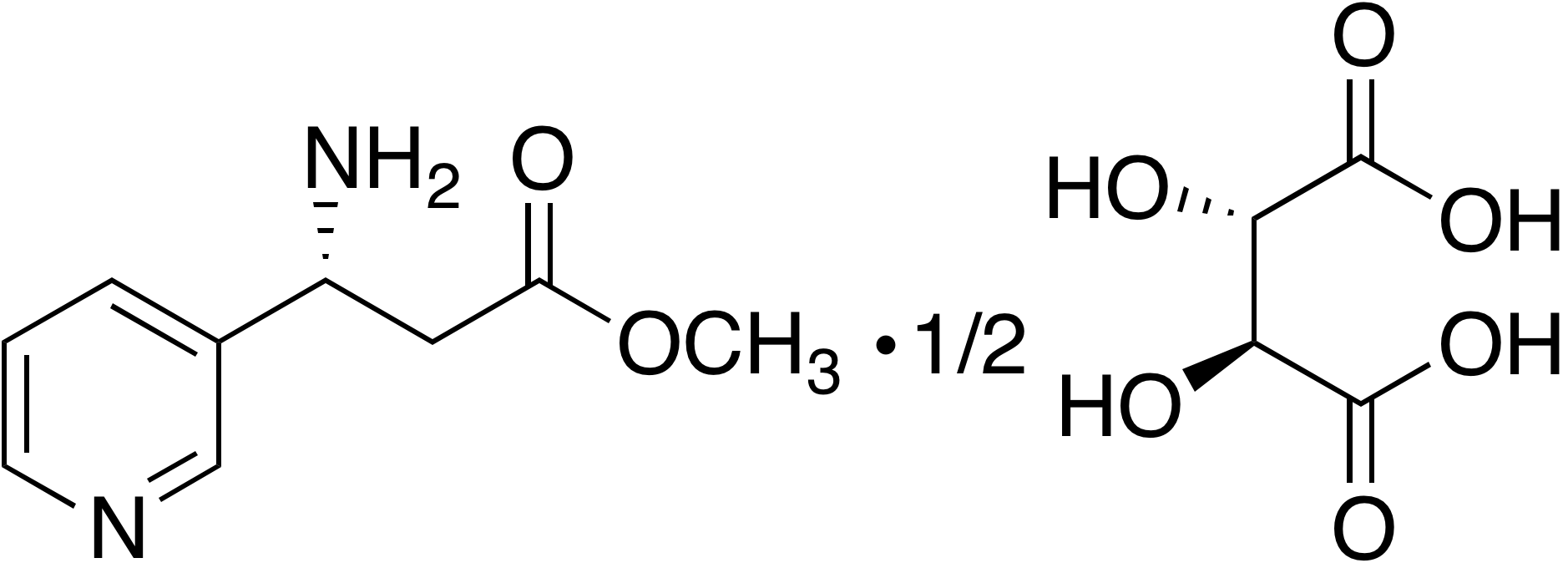 Methyl (R)-3-amino-3-(3-pyridyl)propanoate hemitartrate