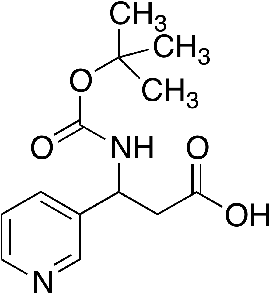 3-tert-Butoxycarbonylamino-3-pyridin-3-yl-propionic acid
