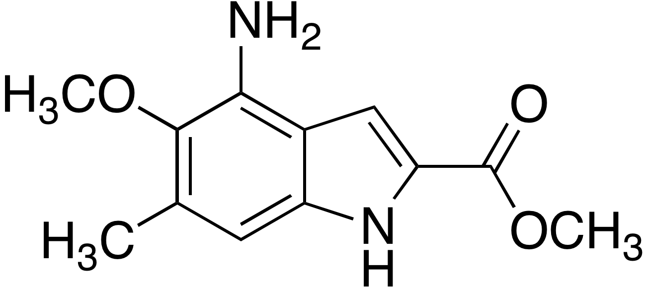 4-Amino-5-methoxy-2-(methoxycarbonyl)-6-methylindole