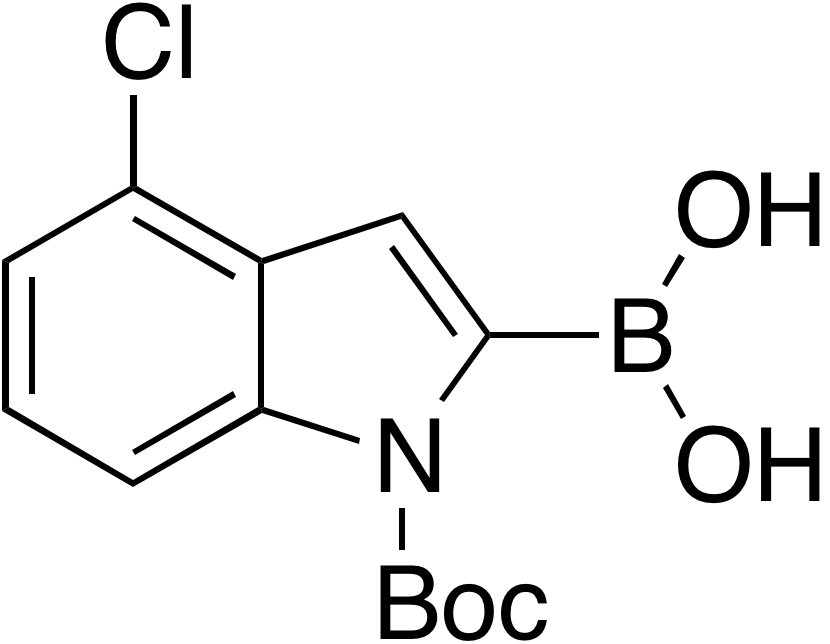 N-Boc-4-chloroindole-2-boronic acid
