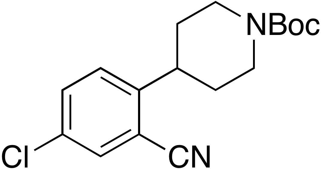 tert-Butyl 4-(4-chloro-2-cyanophenyl)piperidine-1-carboxylate