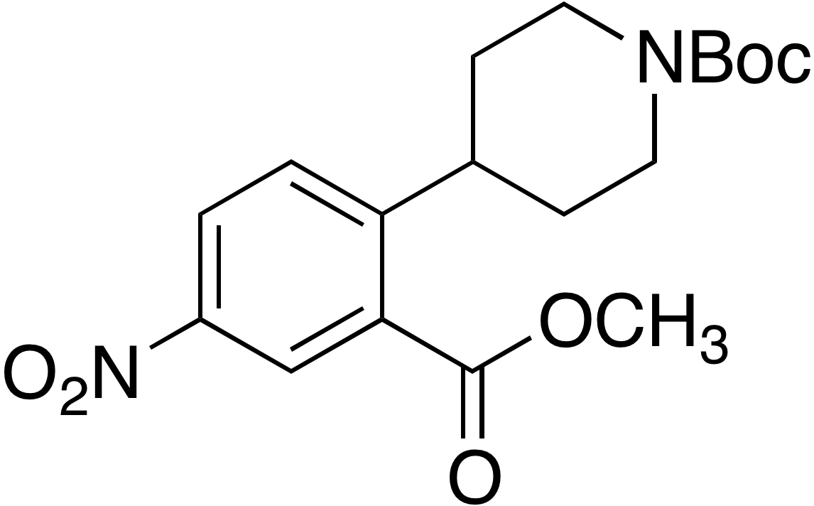 tert-Butyl 4-(2-(methoxycarbonyl)-4-nitrophenyl)piperidine-1-carboxylate