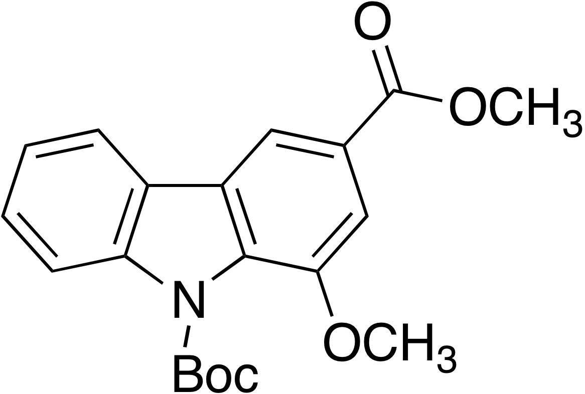 N-tert-Butoxycarbonyl-1-methoxy-3-(methoxycarbonyl)carbazole