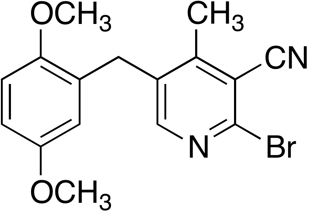 2-Bromo-3-cyano-4-methyl-5-(2,5-dimethoxybenzyl)pyridine