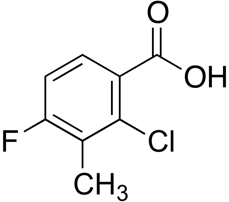 2-Chloro-4-fluoro-3-methylbenzoic acid