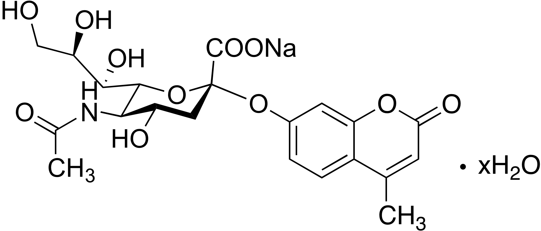 2′-(4-Methylumbelliferyl)-α-D-N-acetylneuraminic acid sodium salt hydrate