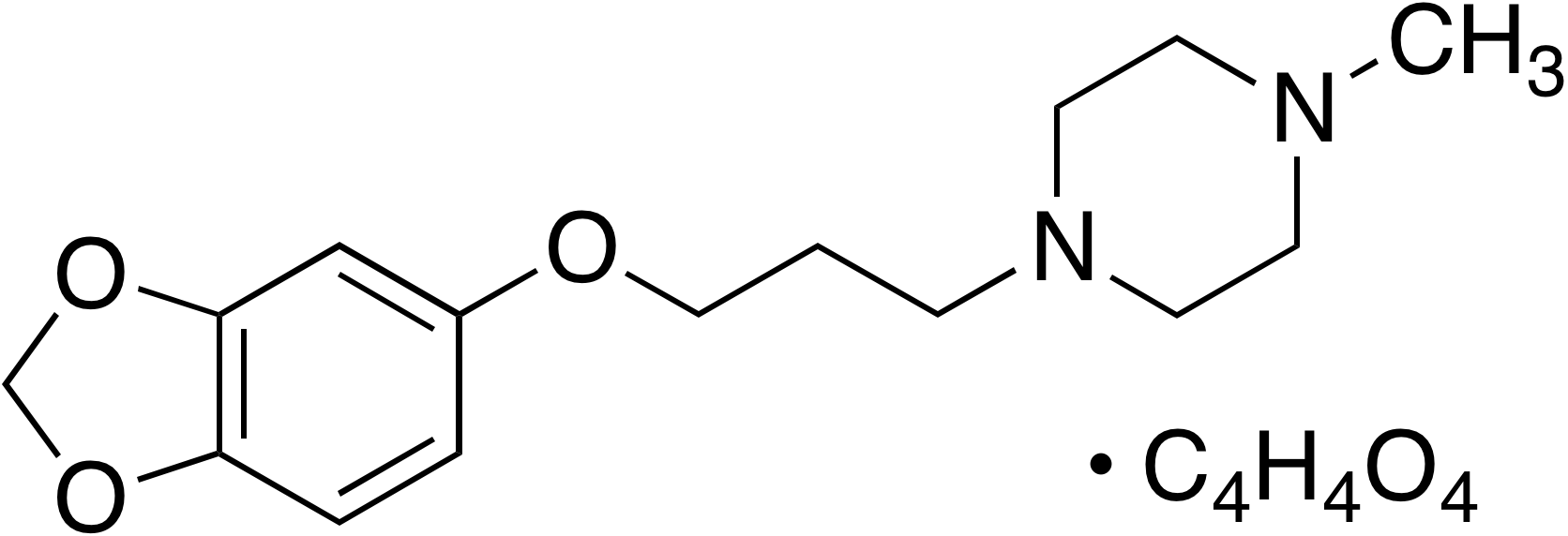 1-[3-(3,4-Methylenedioxy)propyl]-4-methylpiperazine maleate