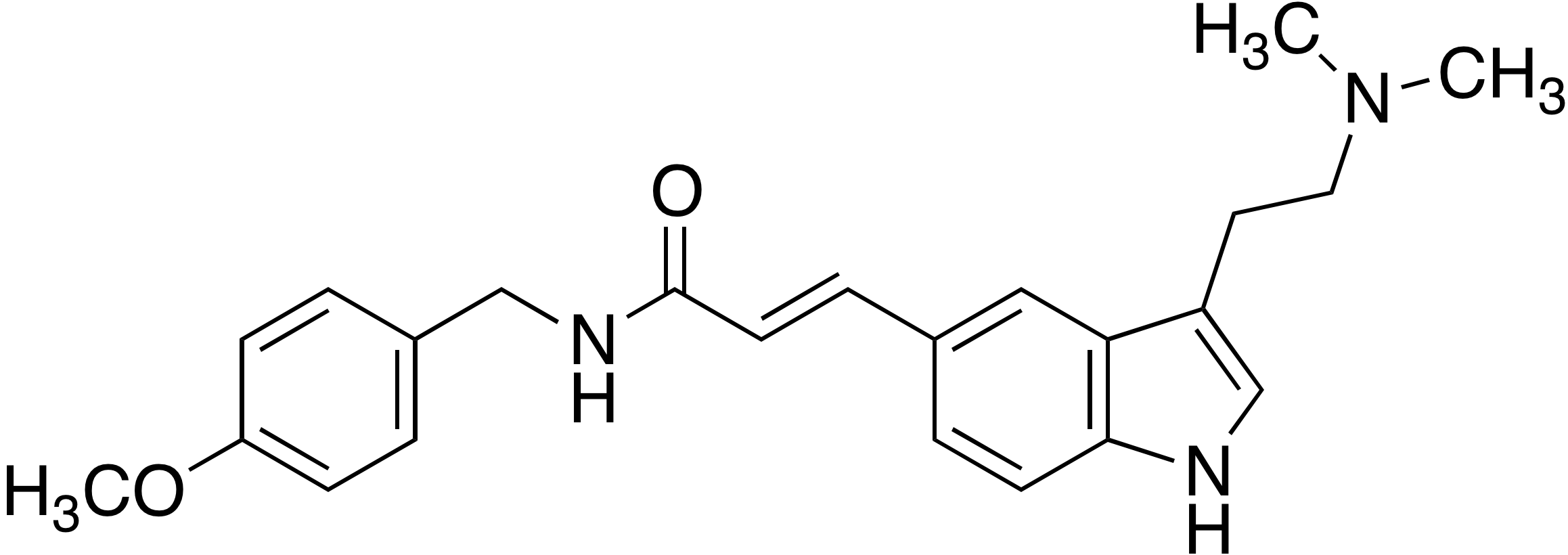 3-[3-(2-Dimethylaminoethyl)-1H-indol-5-yl]-N-(4-methoxybenzyl)acrylamide