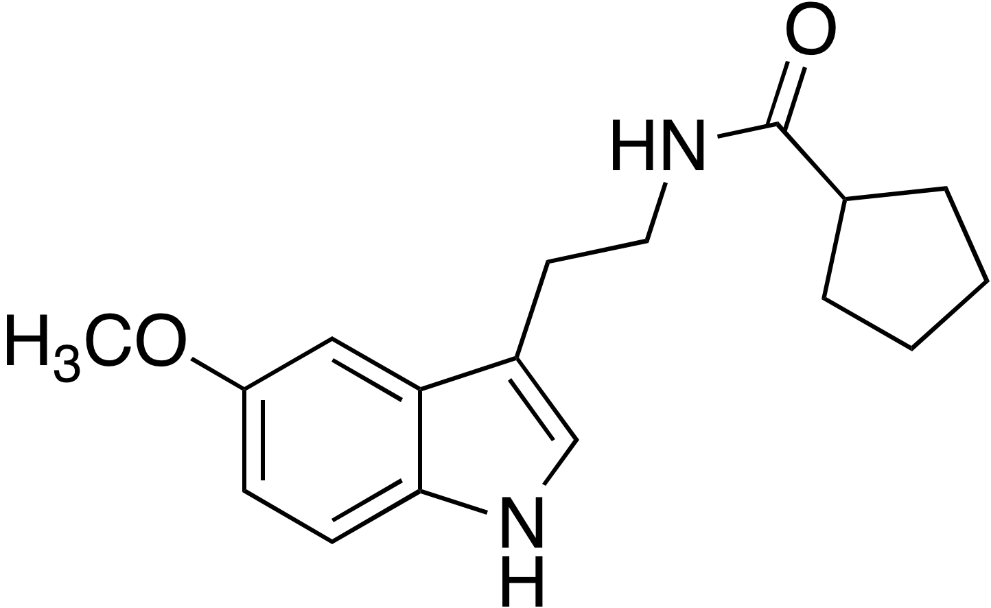 N-Cyclopentanoyl-5-methoxytryptamine