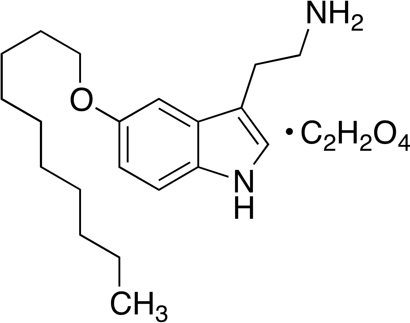 5-Decyloxytryptamine oxalate