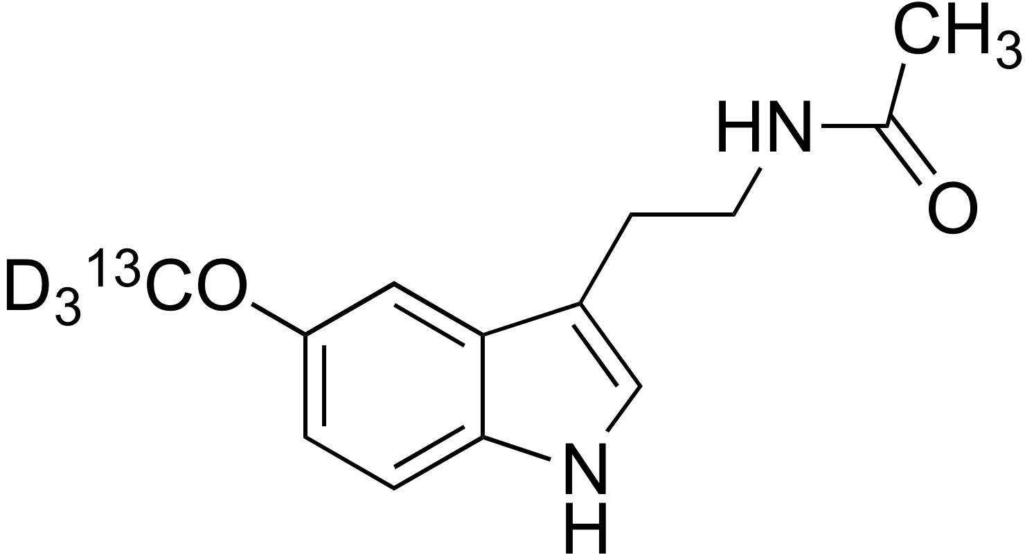N-Acetyl-5-methoxy-<sup>13</sup>C,d<sub>3</sub>-tryptamine