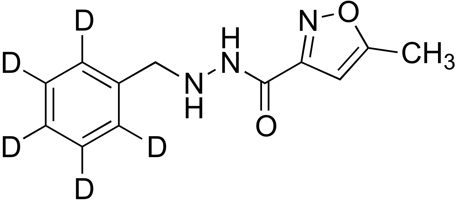 5-Methyl-3-isoxazole-carboxylic acid 2-benzyl-d<sub>5</sub>-hydrazide