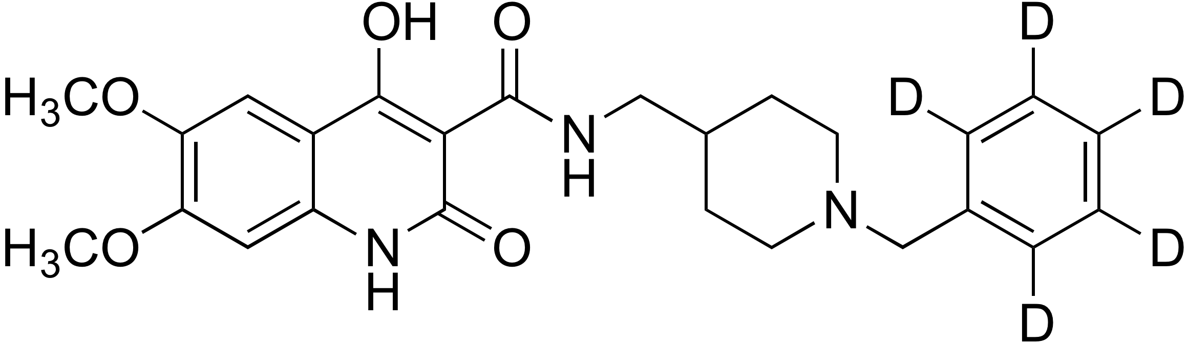 N-((1-Benzyl-d<sub>5</sub>-piperidin-4-yl)methyl)-4-hydroxy-6,7-dimethoxy-2-oxo-1,2-dihydroquinoline-3-carboxamide