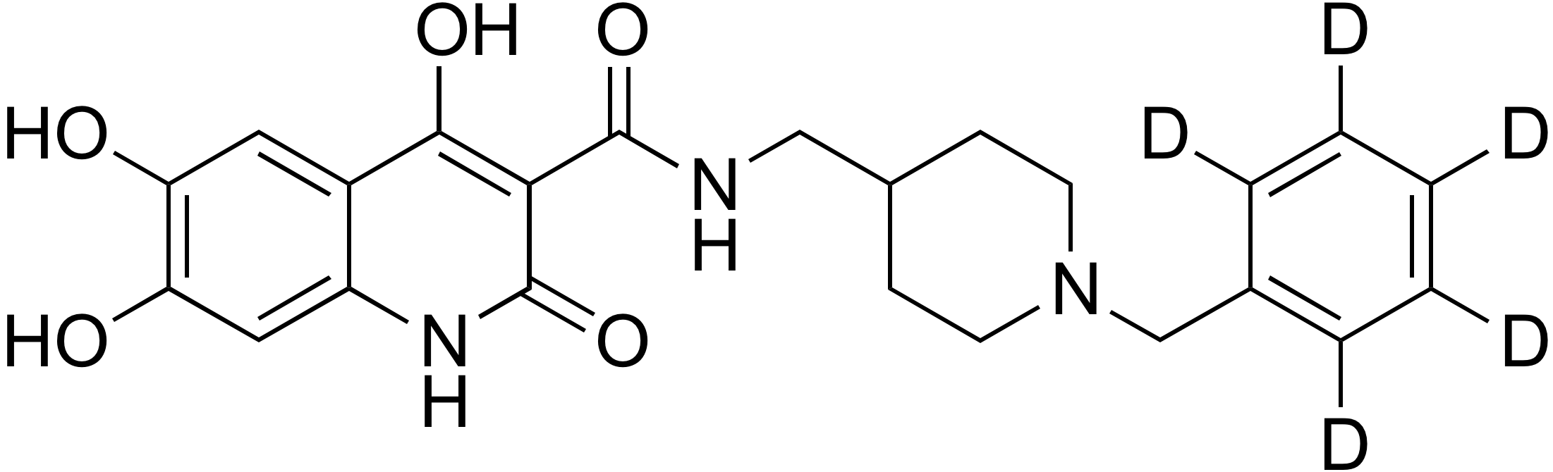 N-((1-Benzyl-d<sub>5</sub>-piperidin-4-yl)methyl)-4,6,7-trihydroxy-2-oxo-1,2-dihydroquinoline-3-carboxamide