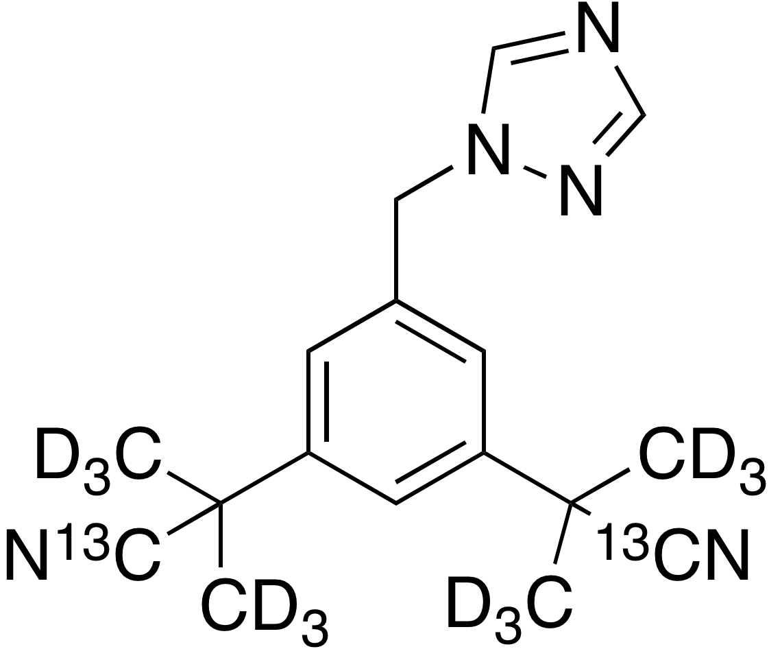 Anastrozole-<sup>13</sup>C<sub>2</sub>, d<sub>12</sub>