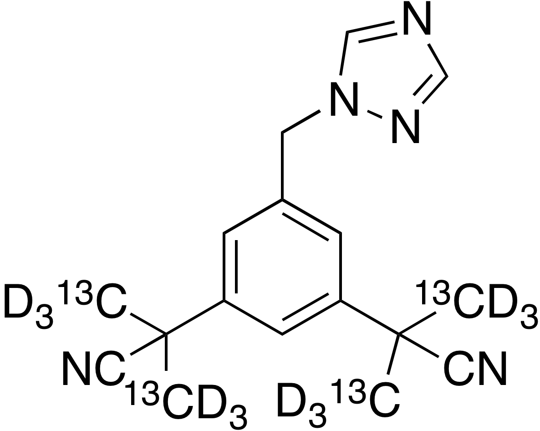 Anastrozole-<sup>13</sup>C<sub>4</sub>, d<sub>12</sub>