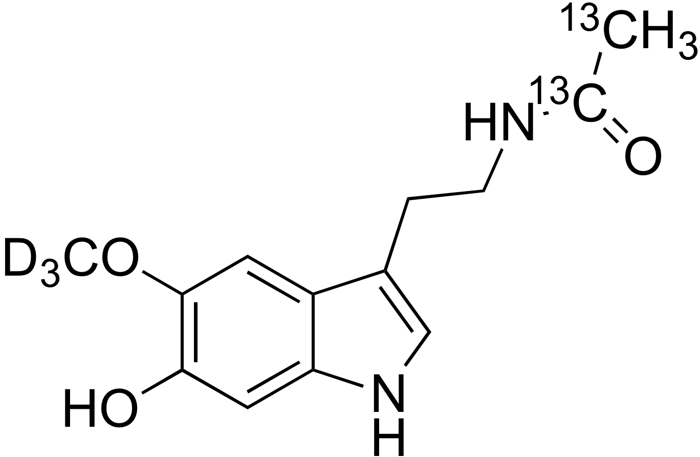 6-Hydroxymelatonin-d<sub>3</sub>,<sup>13</sup>C<sub>2</sub>