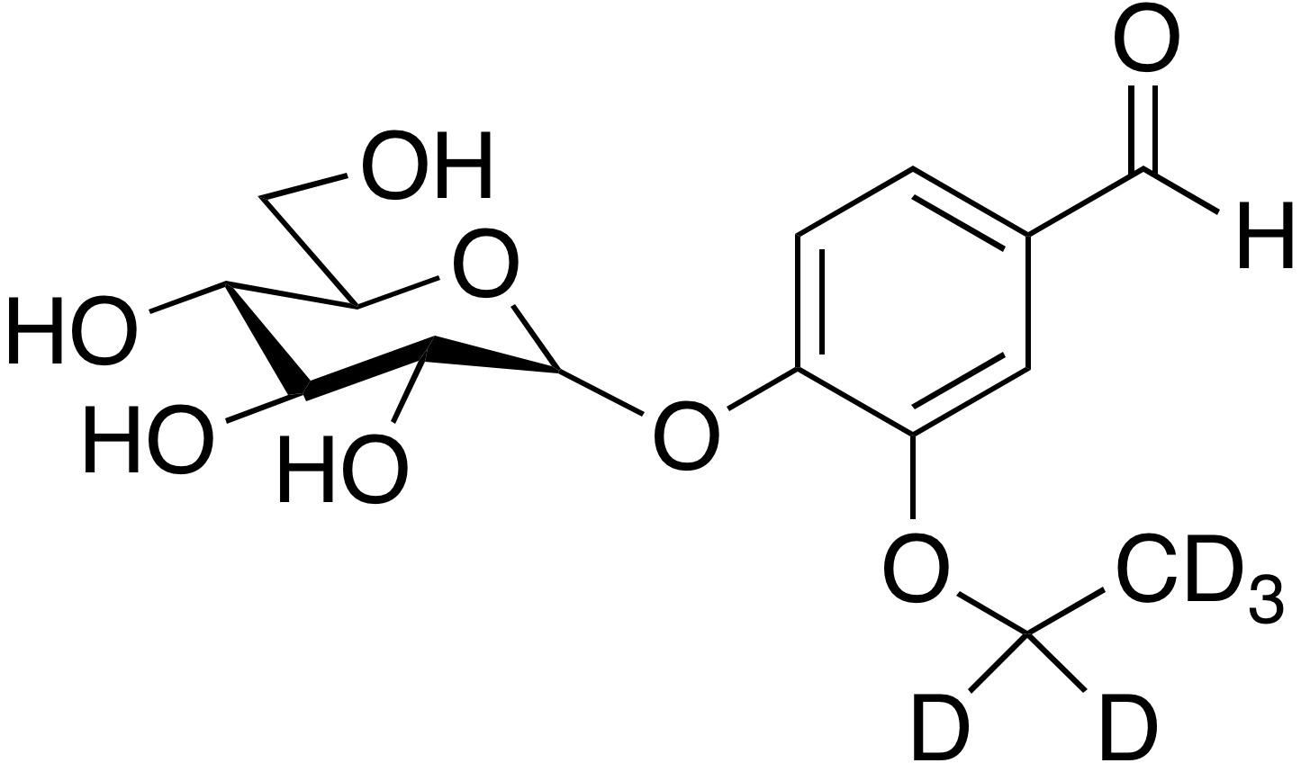Ethyl-d<sub>5</sub> vanillin glucoside