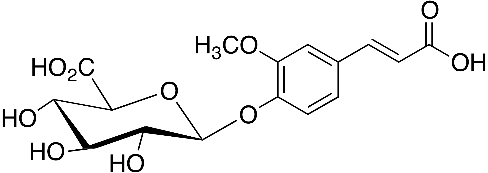 Ferulic acid 4-O-β-D-glucuronide