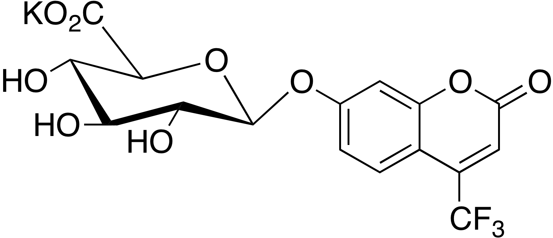 4-Trifluoromethyl-7-hydroxycoumarin glucuronide potassium